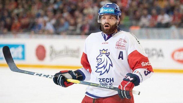 Obránce Radko Gudas během utkání s Finy v rámci Carlson Hockey Games.