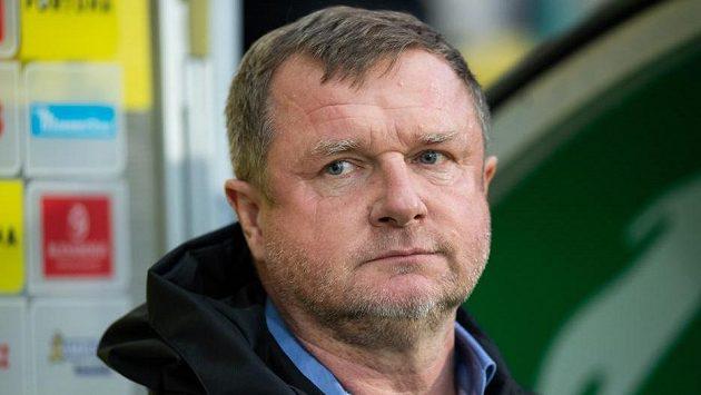 Trenér Viktorie Plzeň Pavel Vrba během utkání s Bohemians.