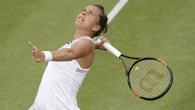 Česká tenistka Barbora Strýcová na turnaji v Birminghamu.