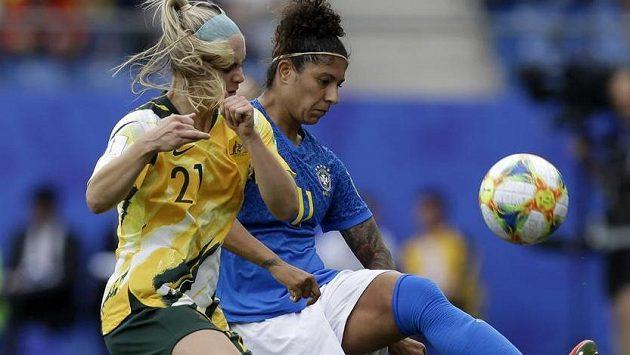 Australanky smazaly dvoubrankový náskok Brazilek a slaví výhru.