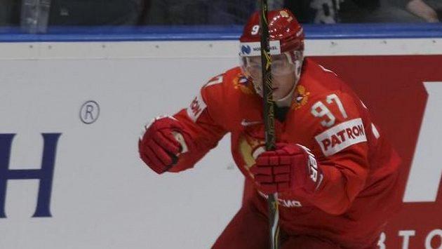 Nikita Gusev se raduje z vedoucího gólu sborné.