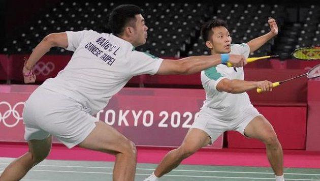 Čtyřhru badmintonistů na olympiádě v Tokiu vyhráli Li Jang, Wang Č'Lin z Tchaj-wanu