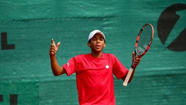 Čtrnáctiletý kanadský tenista Félix Auger-Aliassime.