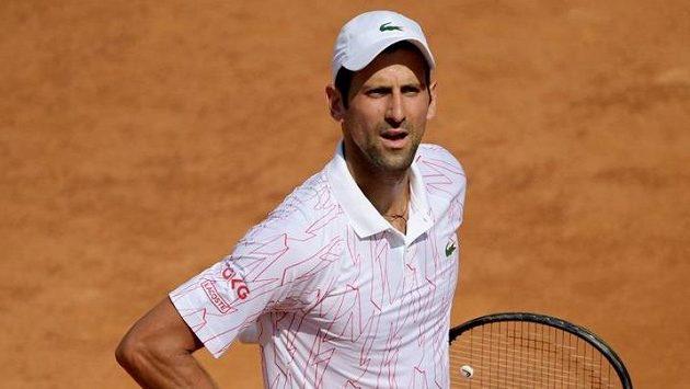 Novak Djokovič svůj první zápas v Římě zvládl vítězně