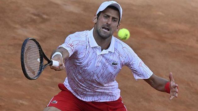 Novak Đjokovič na turnaji v Římě.