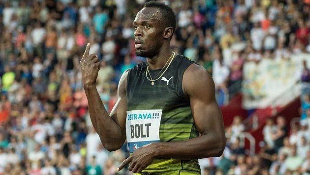 Usain Bolt na Zlaté tretře v Ostravě. Nyní už je jeho prioritou fotbal.