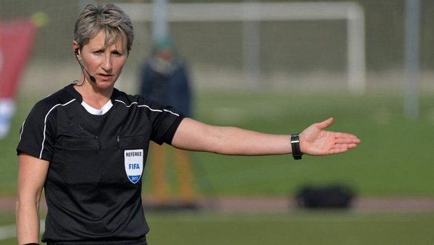 Fotbalová rozhodčí Jana Adámková na archivním snímku z loňského roku.