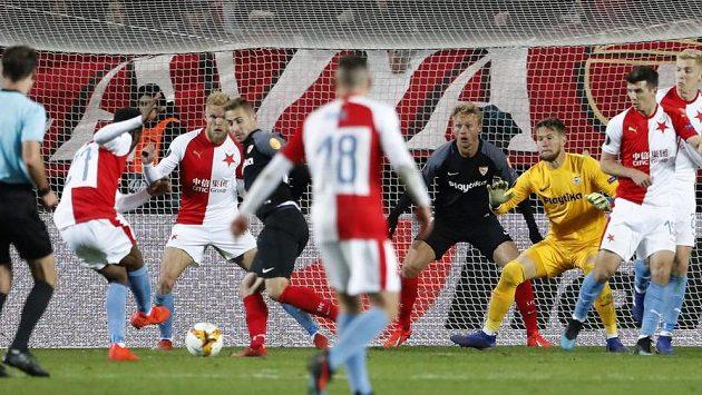 Slavia šokovala Sevillu a slaví postup do čtvrtfinále. K úspěchu sešívaným na sociální síti gratulovala i tenistka Petra Kvitová.