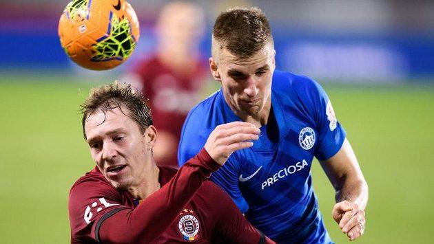 Lukáš Juliš ze Sparty Praha a Jakub Jugas ze Slovanu Liberec.