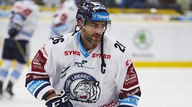 Kapitán hokejistů Liberce Petr Jelínek.
