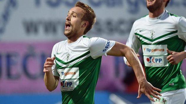 Jablonecký obránce Luděk Pernica se raduje ze svého gólu proti Jihlavě.