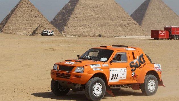 Ukrajinský závodník Vadim Něstěrčuk během rallye v Egyptě (ilustrační foto).