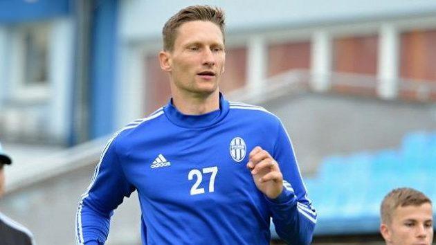 Milan Škoda na tréninku s Mladou Boleslaví.