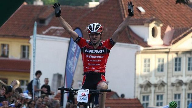 Biker Jan Škarnitzl.