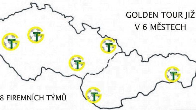 Firemní týmy hrají Golden Tour již v 6 městech České a Slovenské republiky, nově také ve východoslovenských Košicích.