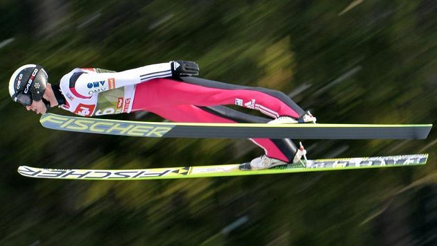 Roman Koudelka během kvalifikace na Turné čtyř můstků v Innsbrucku.