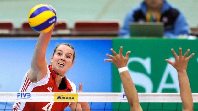 Česká volejbalistka Aneta Havlíčková na archivním snímku.