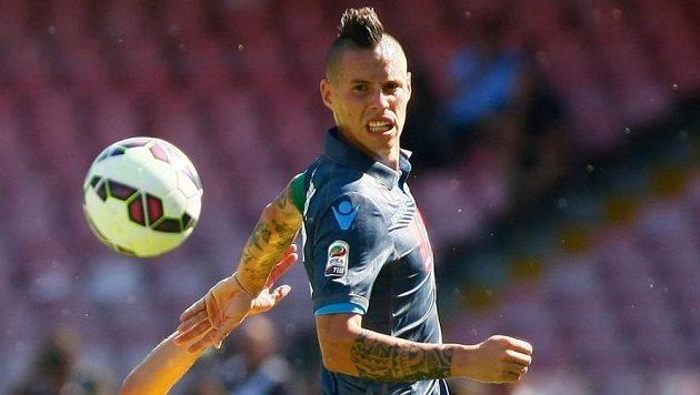 Kapitán Neapole Marek Hamšík už vyhlíží duel Evropské ligy se Spartou.