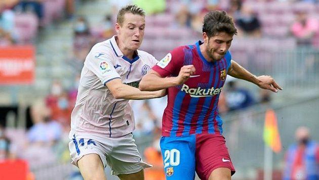 Jakub Jankto v zápase proti Barceloně