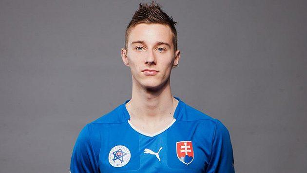Ján Greguš v dresu slovenské reprezentace.