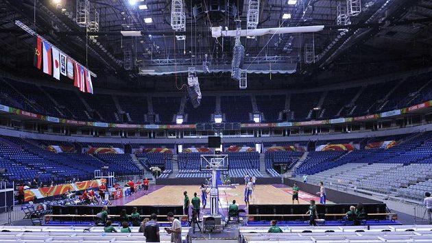 V Kombank Areně v Bělehradě budou čeští basketbalisté bojovat o postup na olympijské hry v Riu.