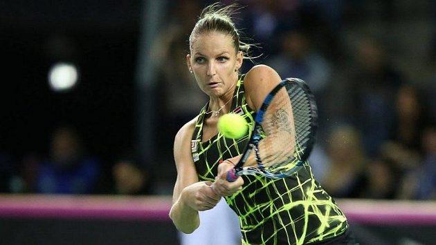 Karolína Plíšková v utkání Fed Cupu - ilustrační foto