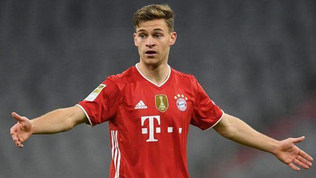 Joshua Kimmich z Bayernu Mnichov v ligovém utkání proti Leverkusenu.