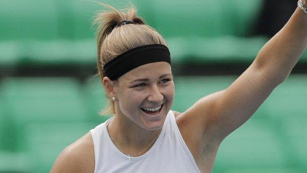 Karolína Muchová slaví postup do semifinále