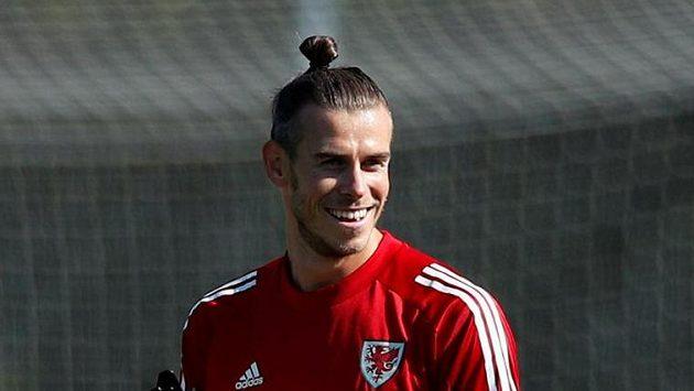 Velšský fotbalista Gareth Bale trénuje během reprezentačního srazu před duelem Ligy národů proti Finsku.