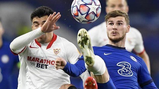 Sestřih zápasu Ligy mistrů Chelsea - Sevilla
