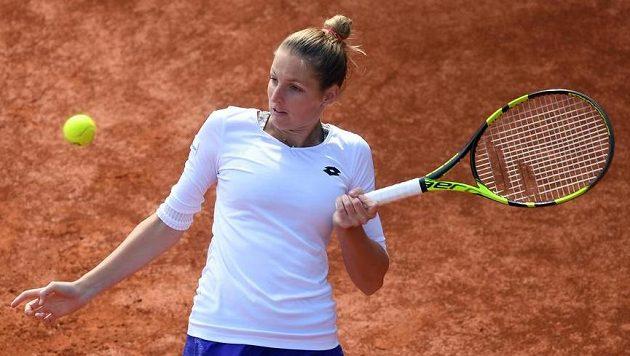 Kristýna Plíšková si na pražském turnaji zahraje v sobotu o titul.