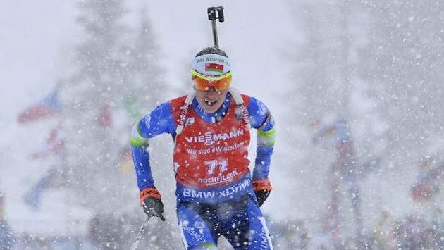Běloruska Darja Domračevová si v zasněženém Hochfilzenu dojela pro triumf.