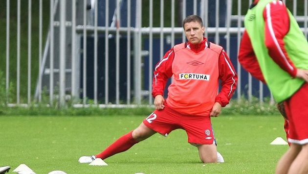 Aleš Schuster na tréninku Brna.