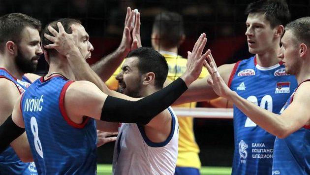Volejbalisté Srbska se na výhru nad Ukrajinou hodně nadřeli