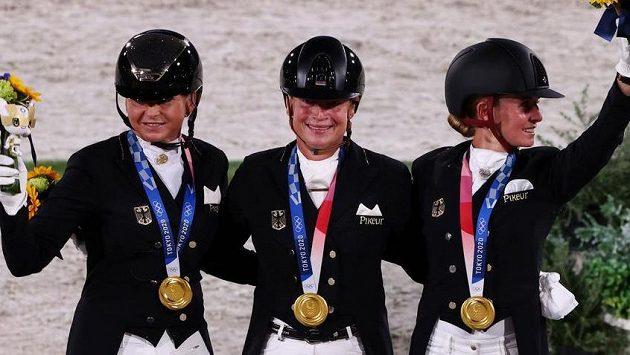 Týmová soutěž v drezuře se už počtrnácté v historii olympijských her stala kořistí německého týmu