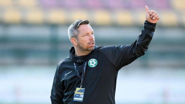 Trenér Příbrami Pavel Horváth může s týmem oslavit záchranu v nejvyšší soutěži.