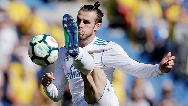 Gareth Bale z Realu Madrid v uktání proti Las Palmas.