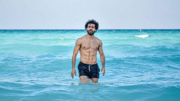 Hvězda Liverpoolu Mohamed Salah na dovolené.