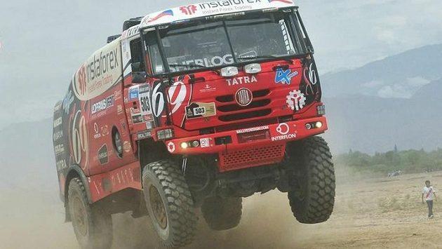 Aleš Loprais se svou tatrou na letošní Rally Dakar.