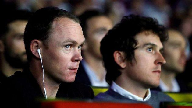 Chris Froome (vlevo) a Geraint Thomas při nedávném představení trasy Tour de France 2019.