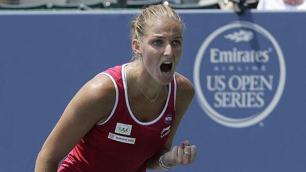 Karolína Plíšková během vítězného semifinále ve Stanfordu.