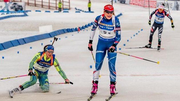Gabriela Koukalová po finiši štafety v Pchjongčchangu.