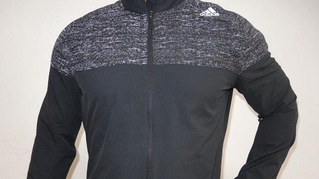 Pánská běžecká bunda Adidas Supernova Storm - reflexní prvky po focení s bleskem.