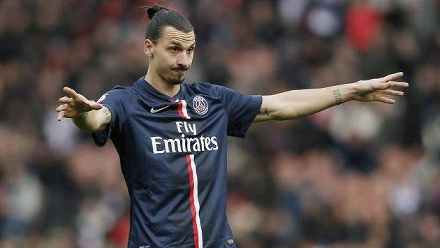 Útočník Paris St Germain Zlatan Ibrahimovic.