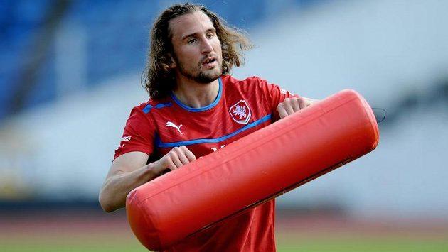Záložník Petr Jiráček během tréninku reprezentace.