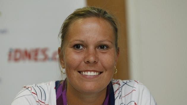 Stříbrná olympijská medailista v tenisové čtyřhře žen z Londýna Lucie Hradecká.