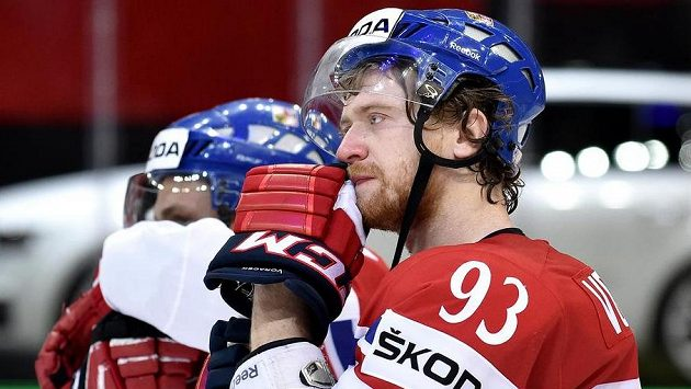 Jakub Voráček na mistrovství světa v Praze.