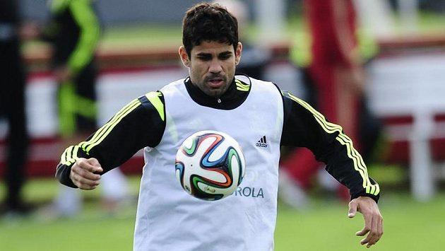 Diego Costa na tréninku španělské reprezentace.