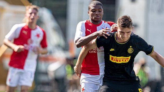 Mladí fotbalisté Slavie bojovali ve svém úvodním zápase Youth League s Interem Milán
