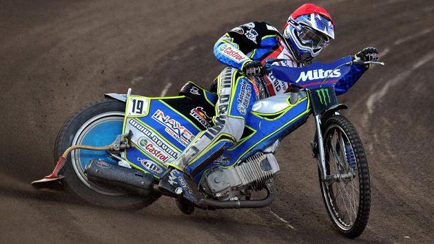 Český závodník Aleš Dryml během GP v ploché dráze na stadiónu Markéta v Praze.